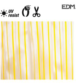 Edm cortina cinta amarillo-transparente plastico 90x210cm 32 tiras 8425998759549 - 75954