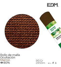 Edm rollo malla marron 80% 90gr 2x50mts 8425998758054 - 75805