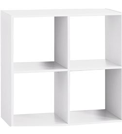 Atmosphera estanteria madera color blanco para 4 cajas organizadoras 67.6x32x67.6cm 3560239679103 - 83484