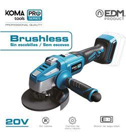 Koma amoladora 125mm 20v brushless (sin bateria y cargador) tools pro serie 8425998087666 - 08766
