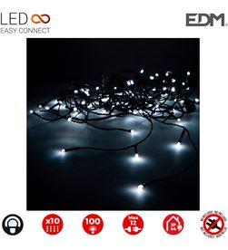 Edm cortina easy-connect 2x1mts 10 tiras 100 leds blanco frio 30v (interior-ext 8425998712605 - 71260