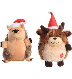 Decoris muñeco de navidad 2 modelos (reno, erizo) funcion cantar y bailar 8718532545198 - 71942