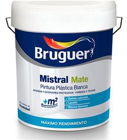 Bruguer 25403 #19 pintura plastica blanca mate mistral 15 litros para interior y exterior bru 8410481005142 - 25403 #19
