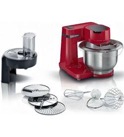 Bosch MUMS2ER01 robot de cocina mum serie 2/ 700w/ capacidad 3.8l/ rojo/ 7 accesorios - MUMS2ER01