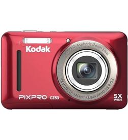 Kodak CZ53RD cámara digital pixpro cz53/ 16mp/ zoom óptico 5x/ roja - KOD-CAMARA CZ53RD