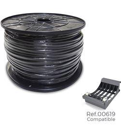 Edm 28915 #19 carrete manguera 2x1 plana negra 500mts (audio) (bobina grande ø400x200mm) 8425998289152 - 28915 #19