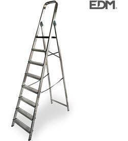 Edm 75057 #19 escalera domestica aluminio 8 peldaños 8425998750577 - 75057 #19