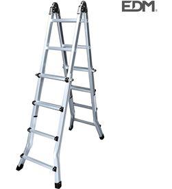 Escalera multifuncion telescopica 2x4+4 peldaños en131-4 Edm 8425998750942 - 75094 #19
