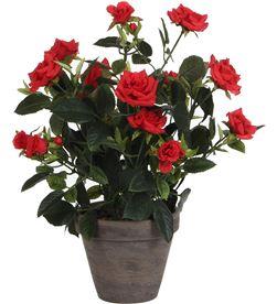 Mica 83242 #19 rosal rojo pvc en maceta gris d11.5cm-h33xd25cm 8712293483331 - 83242 #19