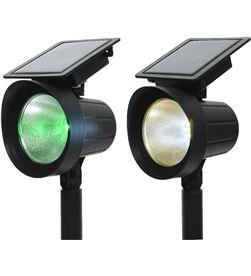 No 83452 #19 set 2 estacas proyector solar led 25 lumens verde y 3.200k 8720093950656 - 83452 #19