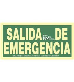 Normaluz 09002 #19 señal de evacuación salida de emergencia (pvc 1mm) clase a 30x15cm 8422838006290 - 09002 #19