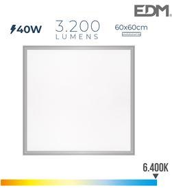Edm 31625 #19 panel led 40w 3.200lm ra80 60x60cm 6.400k 8425998316254 - 31625 #19