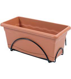Plastiken 74819 #19 balconera plato integrado 60x24cm + soporte terracota 8412524020037 - 74819 #19