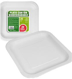 Pack 25ud plato cuadrado blanco cartón 20cm Best products green 8424345106012 - 77026 #19