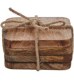 Mica 83573 #19 set 4uni. posavasos madera de mango modelo duko 8718861461657 - 83573 #19