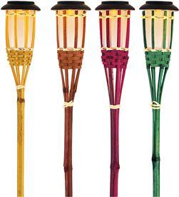 Lumineo 83978 #19 antorcha de bambu solar efecto llama ø9x54cm-1l 8718533011081 - 83978 #19