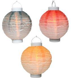 Lumineo 83991 #19 lampara solar de nylon colores degradados efecto llama ø20x23cm 8720093253856 - 83991 #19