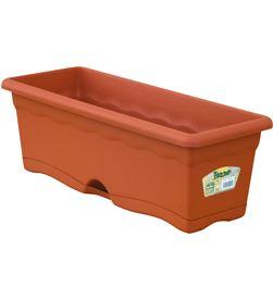 Plastiken 90452 #19 jardinera plato integrado 60x20cm terracota 8412524019970 - 90452 #19