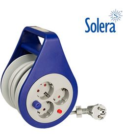 Solera 20129 #19 enrollacables 3 bases 2p+t 8m cable 3x1.5mm2 8423220225213 - 20129 #19