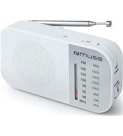Muse +23773 #14 m-025 rw blanco radio analógica am/fm portátil con altavoz integrado m025rw - +23773 #14