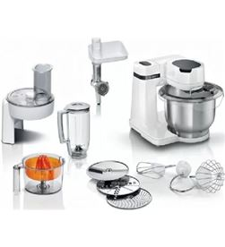 Bosch MUMS2EW40 robot de cocina mum serie 2/ 700w/ capacidad 3.8l/ blanco/ 10 accesor - MUMS2EW40
