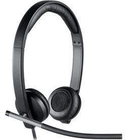 Logitech -AUR H650E auriculares h650e/ con micrófono/ usb/ negros 981-000519 - LOG-AUR H650E