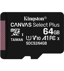 Tarjeta microsd xc kiNgston canvas select plus - 64gb - clase 10 - 100mb/s SDCS2/64GBSP - KIN-MICROSD SDCS2 64GBSP
