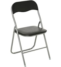 Atmosphera silla plegable de cocina negra 44x44x79,5cm 3560238963395 - 83197