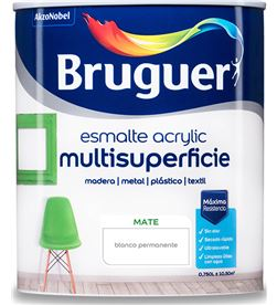 Bruguer esmalte acrylic multisuperficie mate blanco permanente 0,750l 8429656139599 - 25015