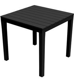 Ipae mesa cuadrada color negro 78x78x72cm progarden 8009271020306 - 75310