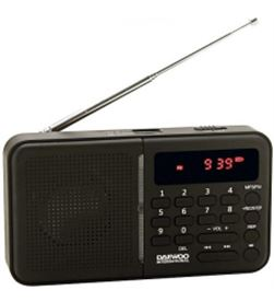 Daewoo DRP122N radio digital fm daewo negro Radio Radio/CD - DRP122N