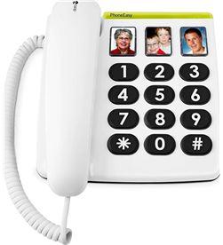 Todoelectro.es +23568 #14 doro phone easy 331ph blanco teléfono fijo con cable botones foto - +23568 #14
