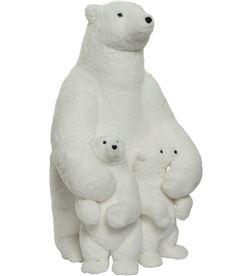 Decoris 72327 oso polar poliester con 2 cachorros 57x68x100cm - 8720093073188