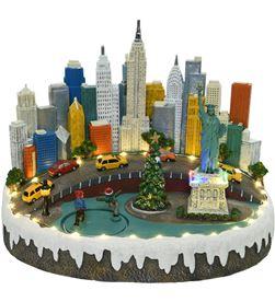 Decoris 72234 escena navideña nueva york con luz, musica y movimiento - 8718533492958