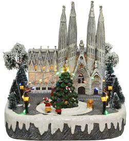 Decoris 72233 escena navideña barcelona con luz, musica y movimiento - 8720093309492