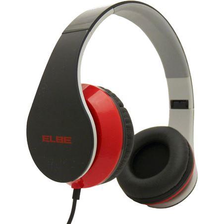 Auricular plegable Elbe au546nr negro/rojo