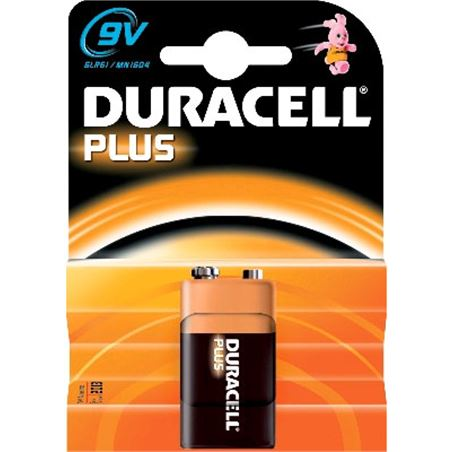 Pilas Duracell plus power 9v(6f22) alcalina 6LR61
