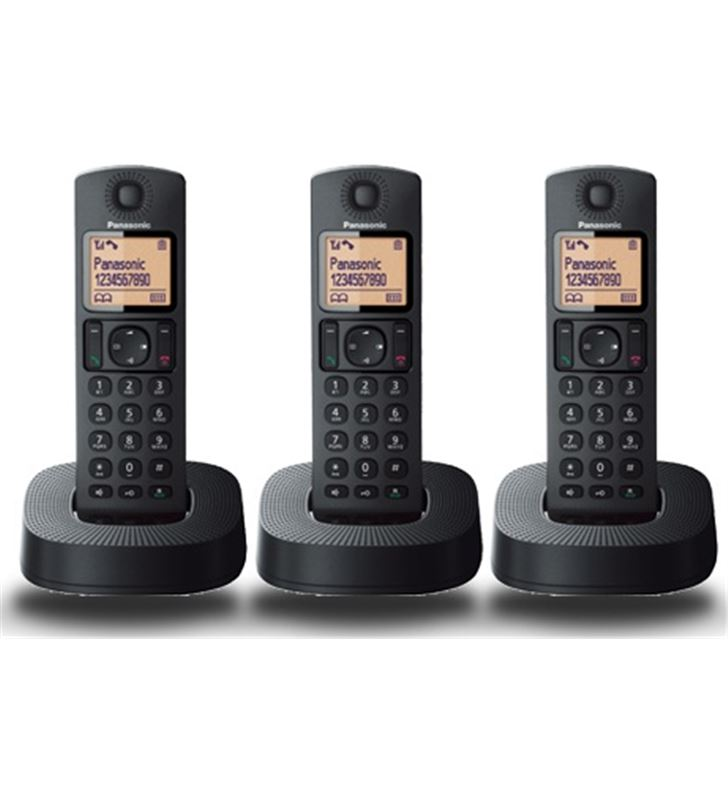 Telefono inal Panasonic kx-tgc313spb trio negro KXTGC313SPB - KXTGC313SPB