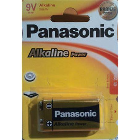 Pilas alcalinas Panasonic 9v 6lr61 ap ( 1-blist PAN9V