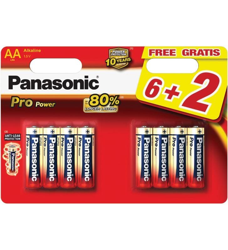 Pilas alcalinas Panasonic 1.5v lr6pp/8bp ( 6+2-bl PANLR6PPG_8BP - LR6PP-8BP
