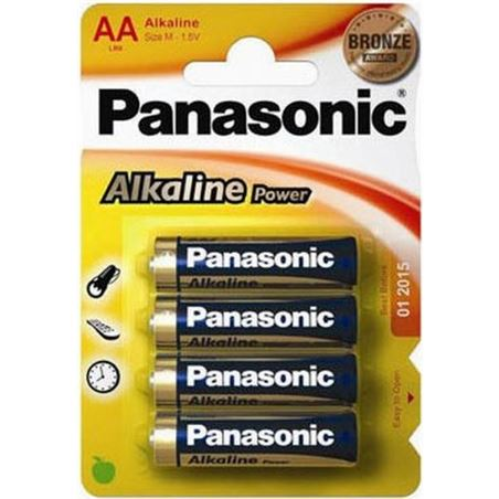 Pilas alcalinas Panasonic 1.5v lr6 ap ( 4-blis PANLR06_4