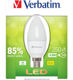 Bombilla led Verbatim 52602 vela e14 (opaca) 4.5w Iluminacion - 52602
