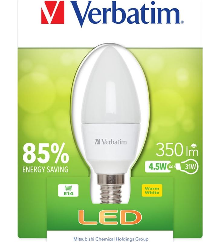 Bombilla led Verbatim 52602 vela e14 (opaca) 4.5w BOMBILLAS - 52602