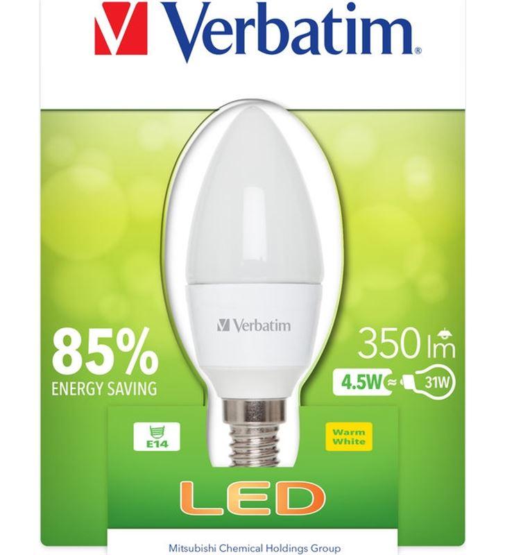Bombilla led Verbatim 52602 vela e14 (opaca) 4.5w - 52602