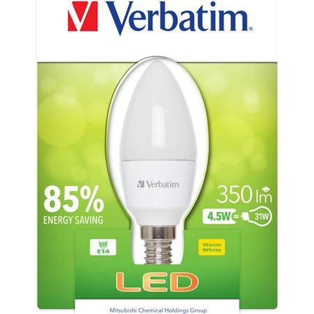 Bombilla led Verbatim 52602 vela e14 (opaca) 4.5w