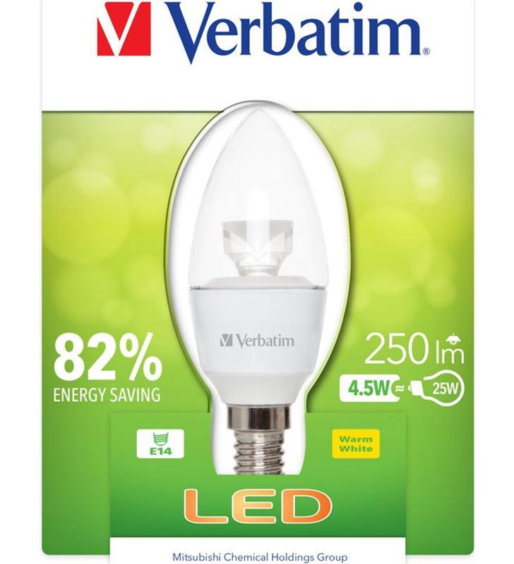 Bombilla led Verbatim 52603 vela e14 (transparente - 52603