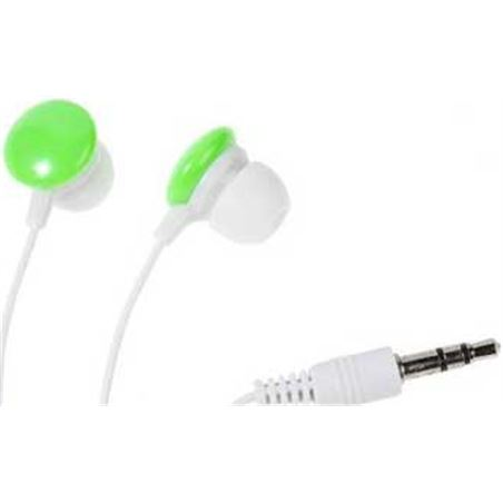 Auriculares boton Vivanco sr 3 verde stereo 34885