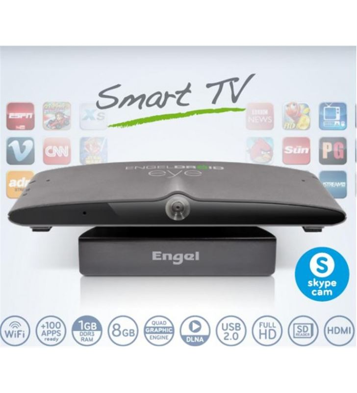 Receptor smart tv android Engel EN1005 con camera TDT/Satélite - EN1005
