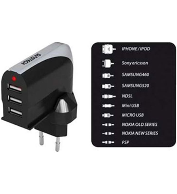 Sunstech ACU3000 cargador/adaptador usb Accesorios telefonia - ACU3000
