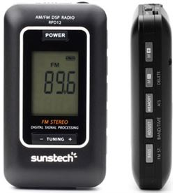 Radio portatil Sunstech RPD12bk digital negra Radio Radio/CD - RPD12BK